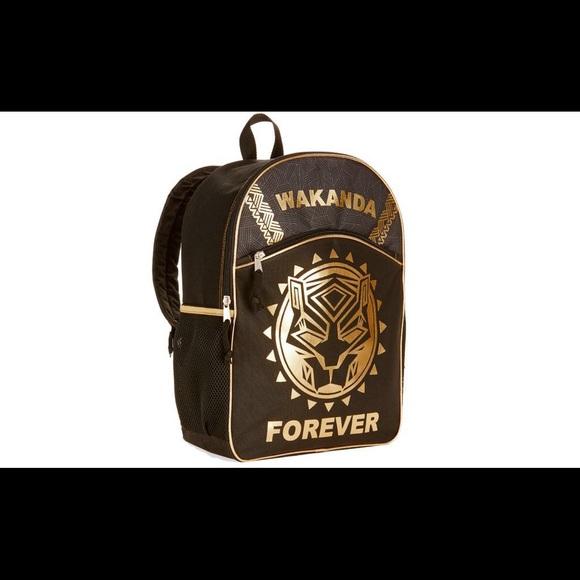 00682b37224 Marvel Black Panther Wakanda Forever Backpack Bag